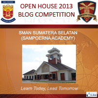 Logo Open House 2013 Blog Competition SMAN Sumatera Selatan (Sampoerna Academy)